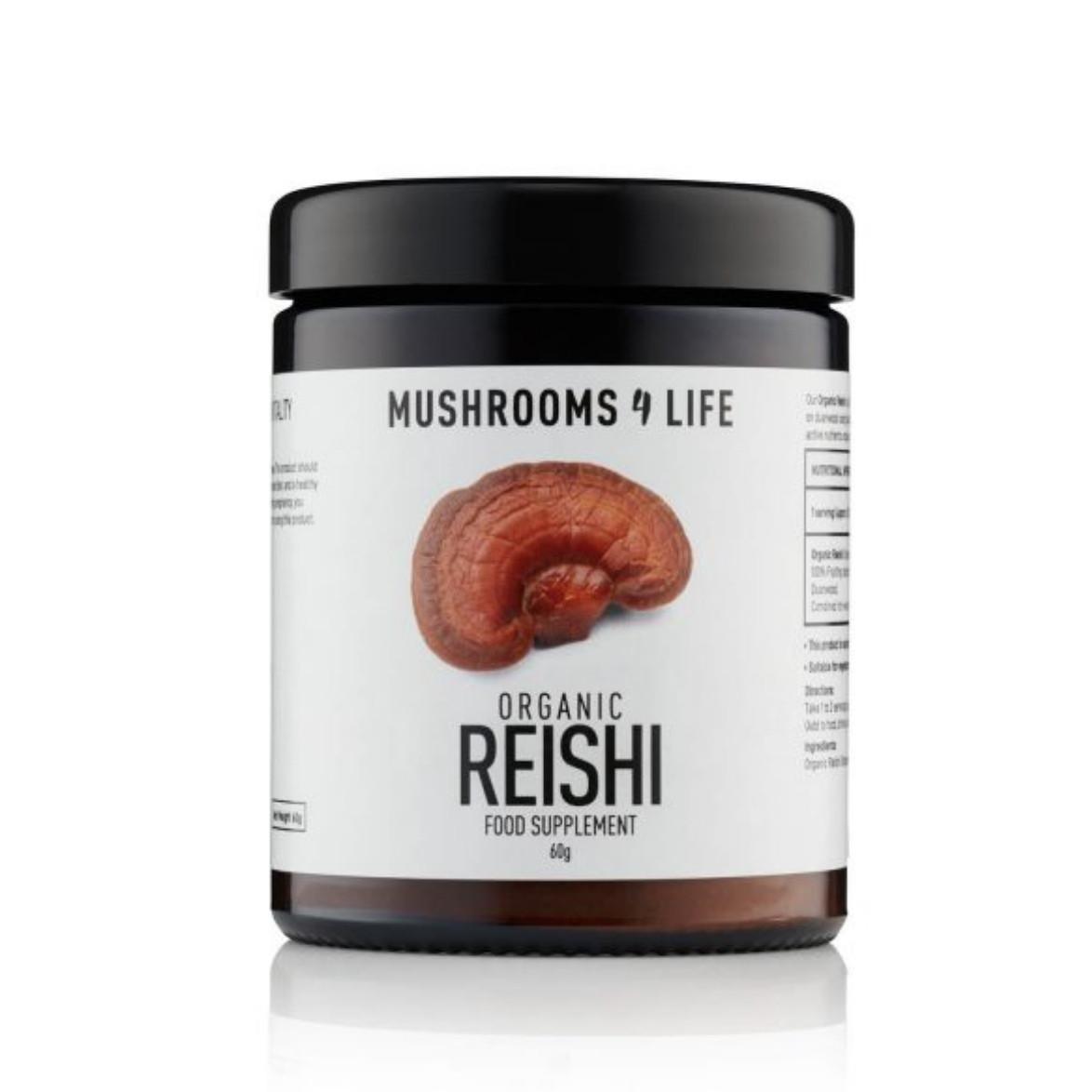 Mushrooms4Life Reishi Poeder 60 gram biologisch