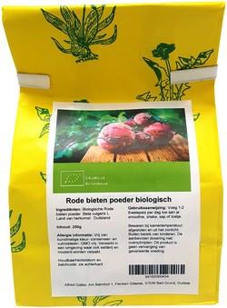 Biologische rode bieten poeder 250 gram