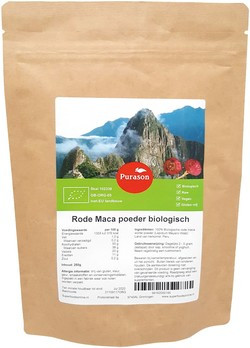 Rode Maca Poeder Raw Bio 250 gram