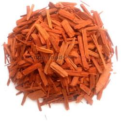 Rood Sandelhout gesneden