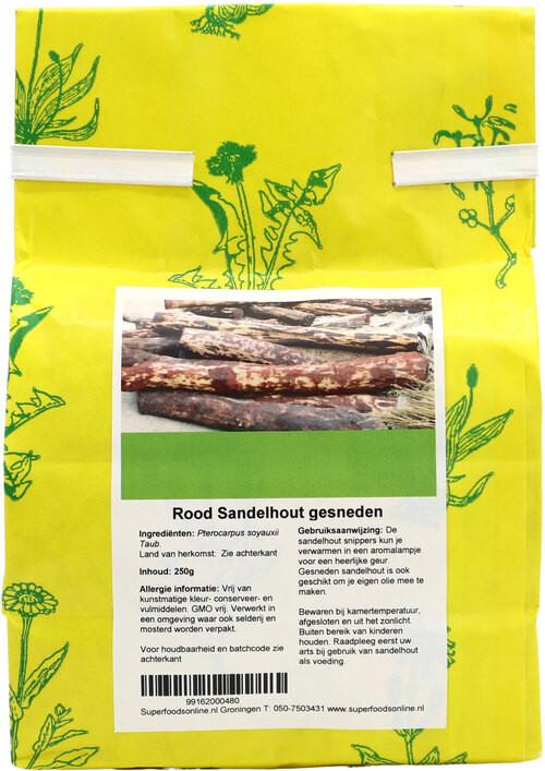 Shakthee Rood Sandelhout gesneden 250 gram