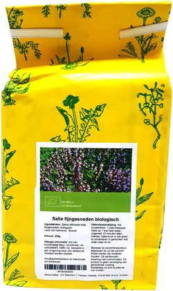 Salie fijngesneden biologisch 250 gram biologisch