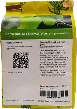 Shakthee Sarsaparilla (Sariva) Wortel gesneden 250 gram