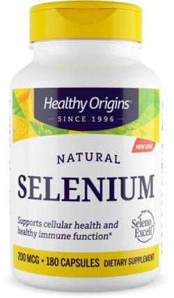 Healthy Origins Seleno Excell 200 Capsules 180 capsules