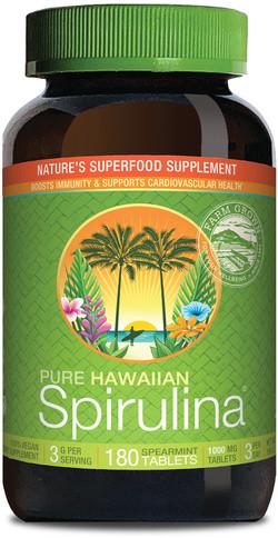 Nutrex Hawaii Spirulina Pacifica Hawaii met munt smaak 1000 mg 180 tabletten