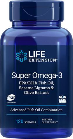 Life Extension Super Omega-3 EPA DHA 120 softgels