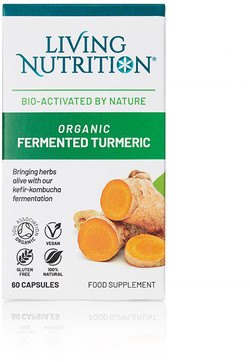 Living Nutrition Organic Fermented Turmeric 60 capsules biologisch