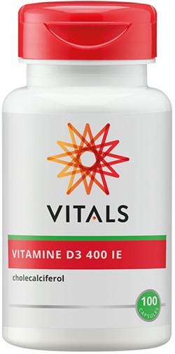 Vitals Vitamine D3 400IE 100 vegetarische capsules