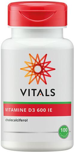 Vitals Vitamine D3 600IE 100 vegetarische capsules