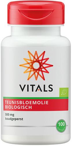 Vitals Teunisbloemolie BIO 100 softgel capsules biologisch