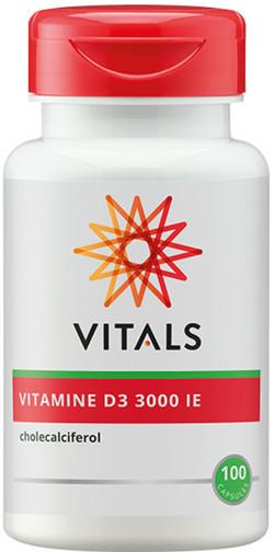 Vitals Vitamine D3 3000 75 mcg 100 vegetarische capsules