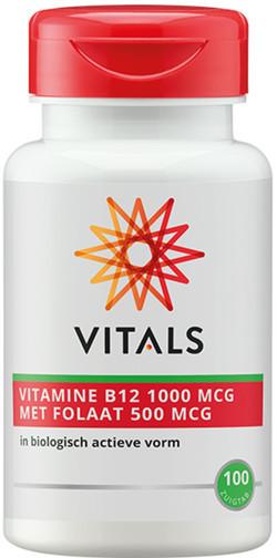 Vitals Vitamine B12 1000 met Folaat 500 100 zuigtabletten