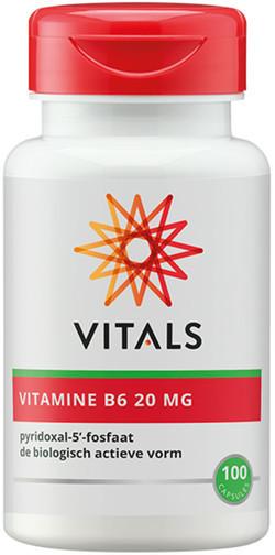 Vitals Vitamine B6 pyridoxaal-5-fosfaat 20mg 100 vegetarische capsules