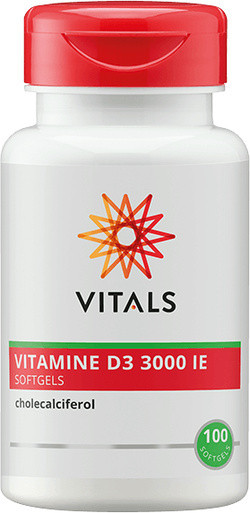 Vitals Vitamine D3 3000 IE 100 softgel capsules
