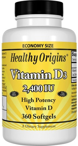 Healthy Origins Vitamine D3 2400 IE 360 capsules