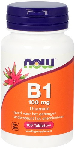 NOW Foods Vitamine B1 100 mg Thiamine 100 tabletten
