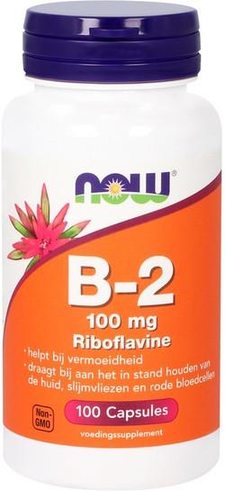 NOW Foods Vitamine B2 100 mg Riboflavine 100 capsules