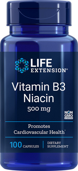 Life Extension Vitamine B3 Niacin 500 mg