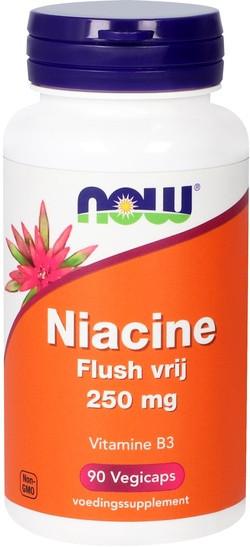 NOW Foods Niacine Flush Vrij 250 mg 90 capsules