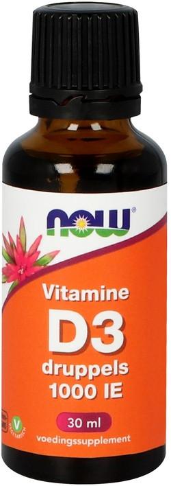 NOW Foods Vitamine D3 Druppels 1000 IE 30 milliliter