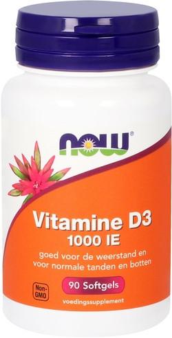 NOW Foods Vitamine D3 1000 IE 90 capsules