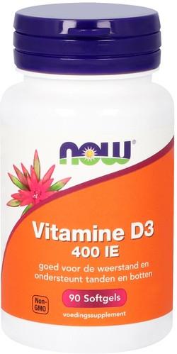 NOW Foods Vitamine D3 400 IE 90 capsules
