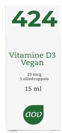 AOV Vitamine D3 Vegan - 424 15 milliliter