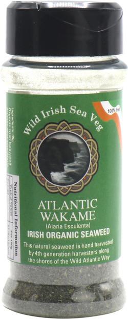 Wild Irish Seaweeds Organic Irish Atlantic Wakame vlokken 35 gram biologisch
