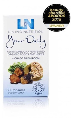 Living Nutrition Your Daily met Chaga 60 capsules biologisch