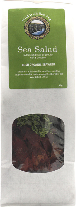 Wild Irish Seaweeds Organic Irish Sea Salad Mix 40 gram biologisch
