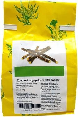 Zoethout ongepelde wortel poeder 250 gram