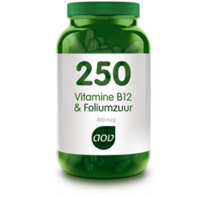 Vitamine B12 & Foliumzuur vegacaps AOV 250