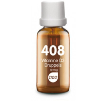 Vitamine D3 druppels 400IE 25ml AOV 408