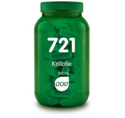 Krill olie capsules 60x500mg AOV 721