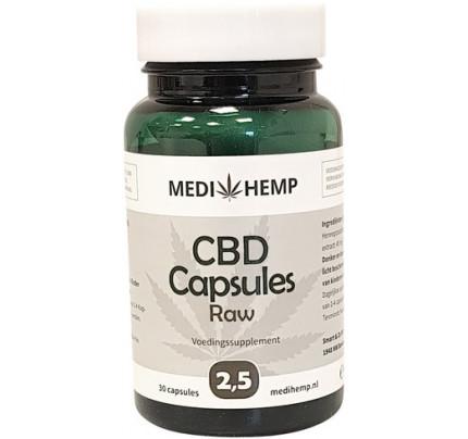 potje voorkant medihemp cbd capules raw 2,5%