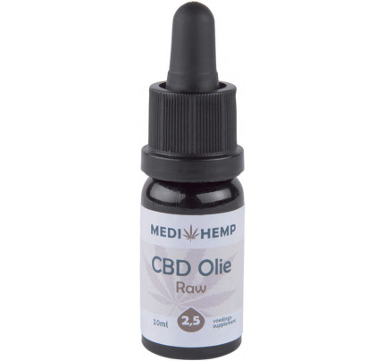 CBD olie raw co2 2.5% MediHemp