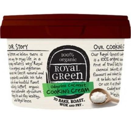 Kokosolie cooking cream geurloos biologisch Royal Green