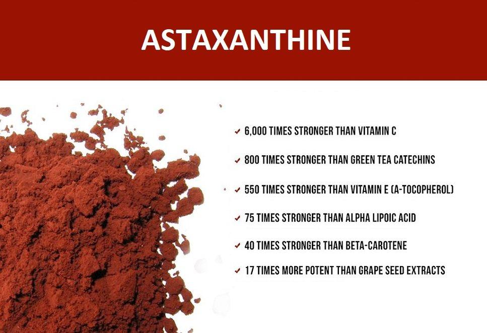 wat doet astaxanthine?